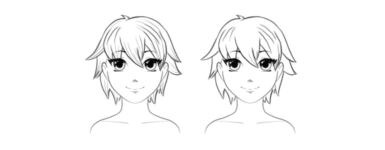 how to draw short male anime hair