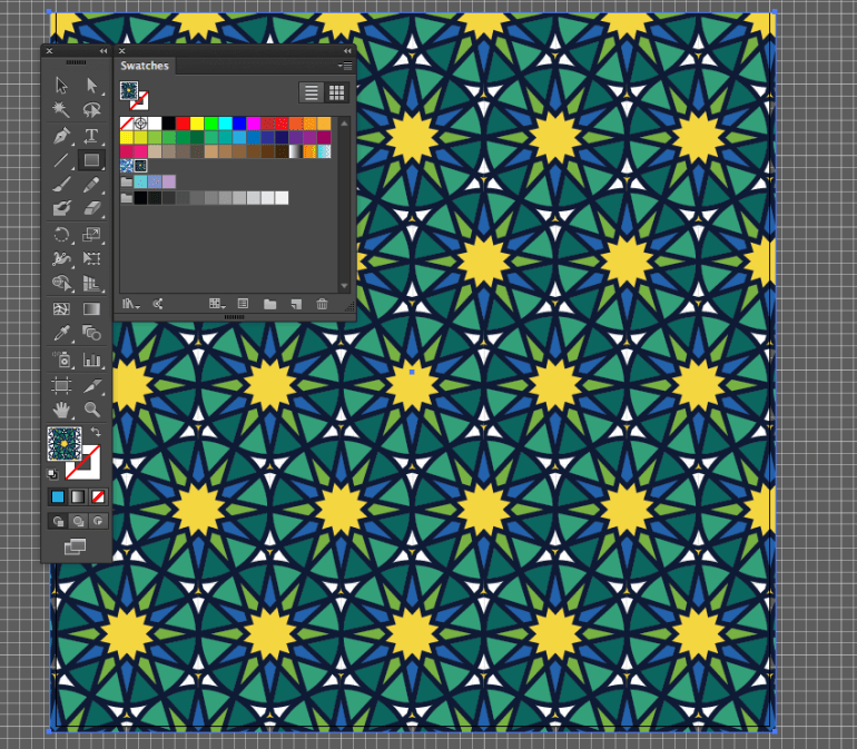 adobe illustrator new pattern create rectangle tool background pattern tile eid fitr holiday card misschatz