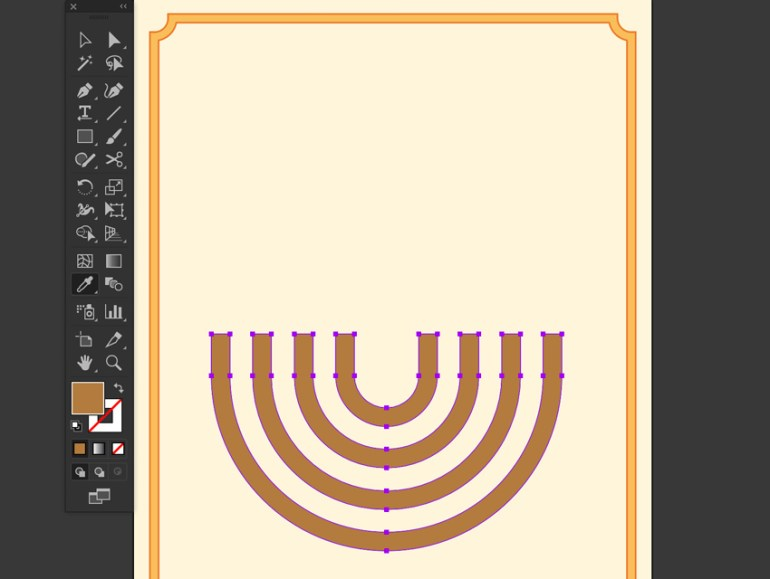 Create rectangle and Minus front from Pathfinder give hex color