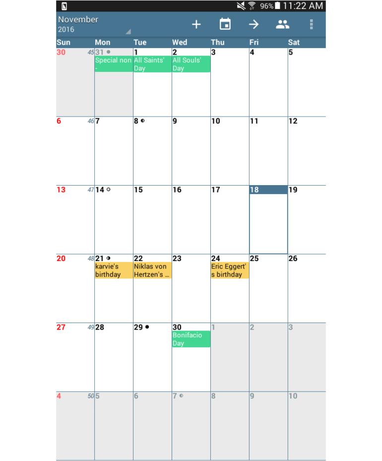 android calendar