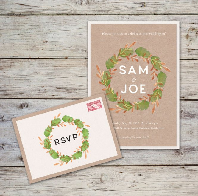How To Create A Rustic Wedding Invitation Template In Adobe