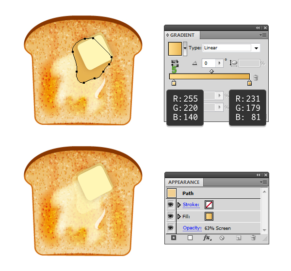 create melted butter on toast 5