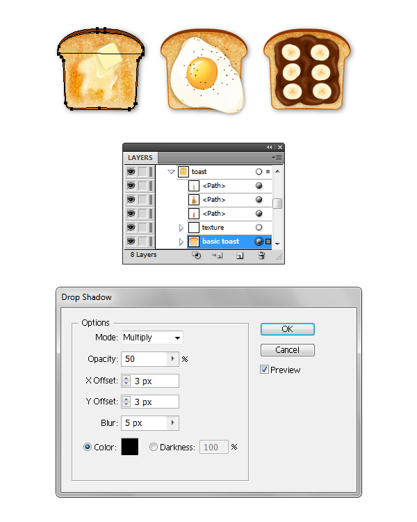 add shadow to toast icons