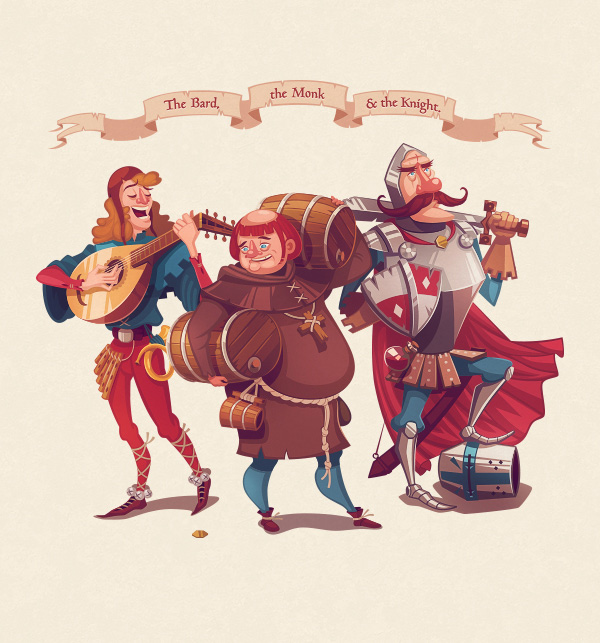 The Bard the Monk  the Knight