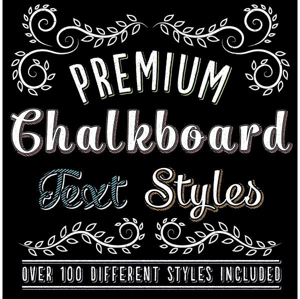 Premium Chalk Text Styles
