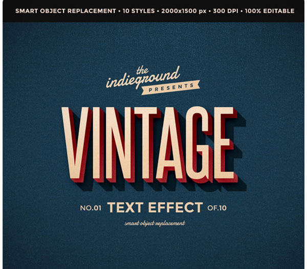 Retro Vintage Text Effects
