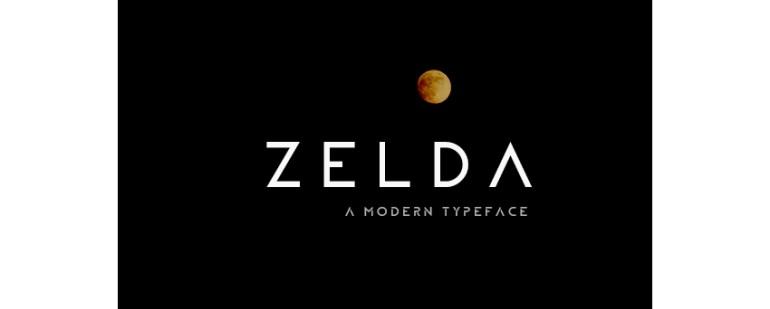 ZELDA Typeface Fill