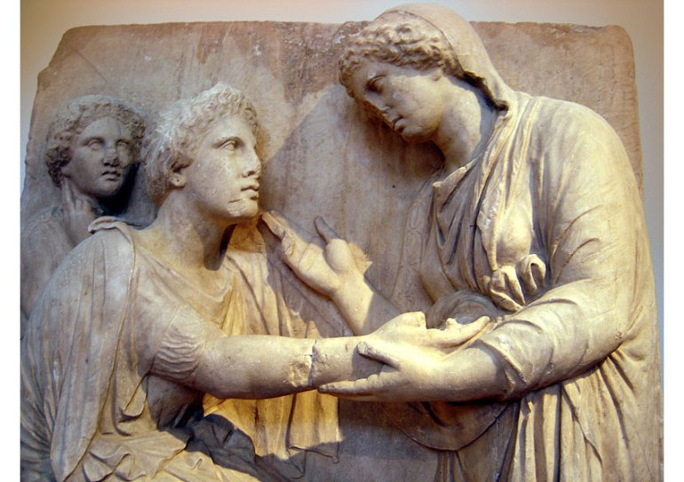 Funerary relief National Archaeological Museum of Athens