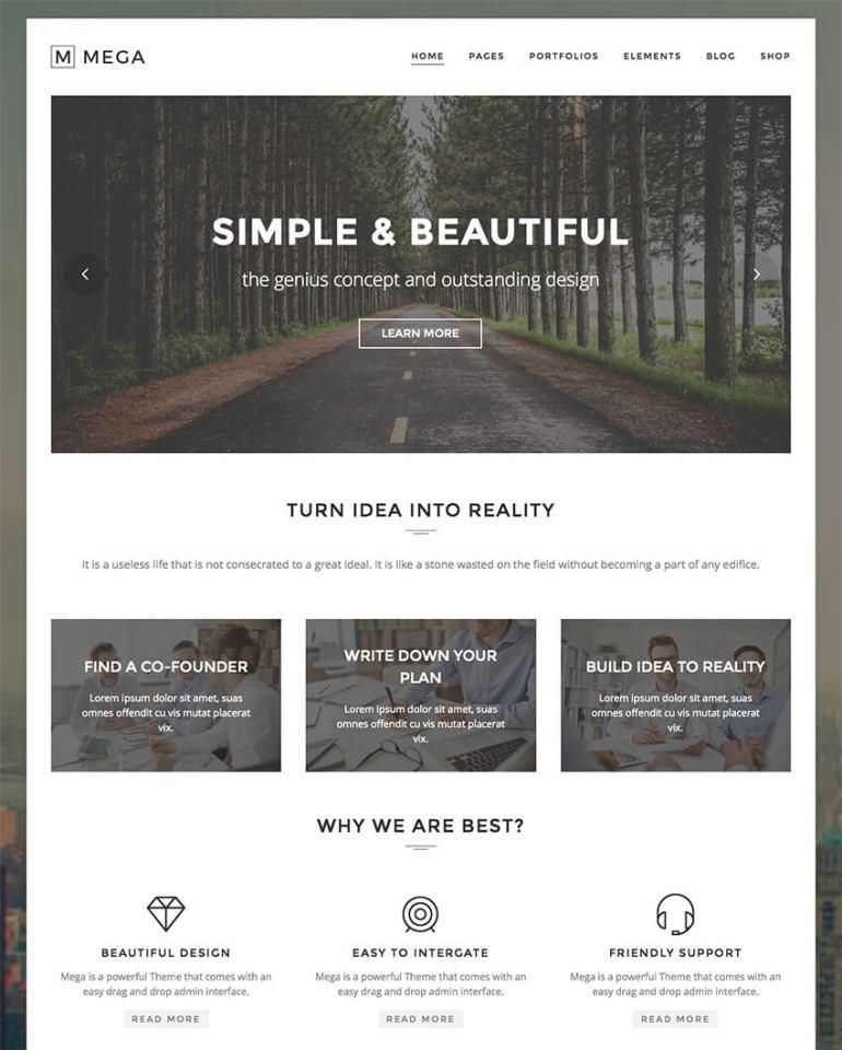 Mega Creative Modern WordPress Theme