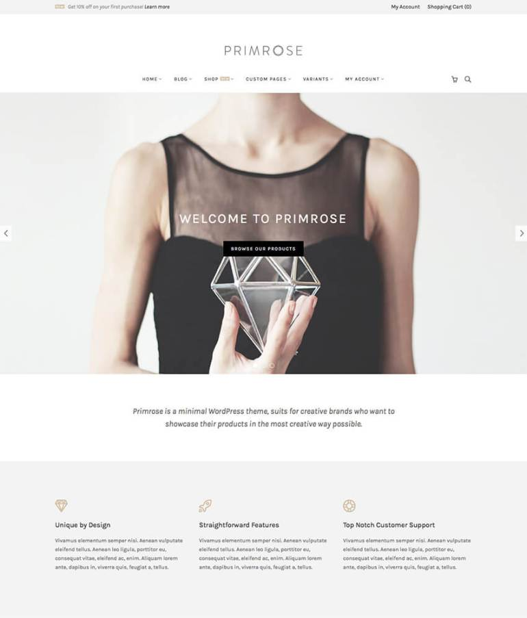 Primrose Minimalist WooCommerce WordPress Theme
