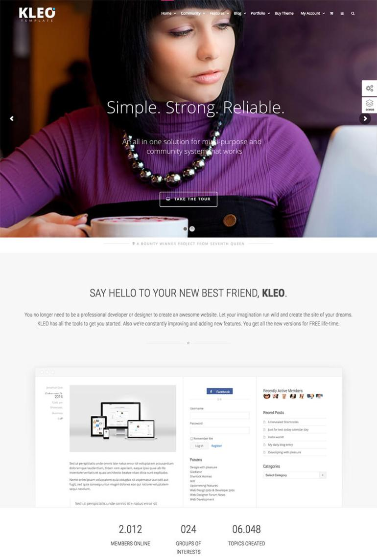 Kleo  Pro Community BuddyPress Theme