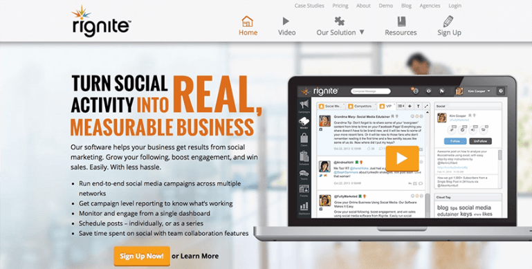 Rignite - Made for Ecommerce business social media integration
