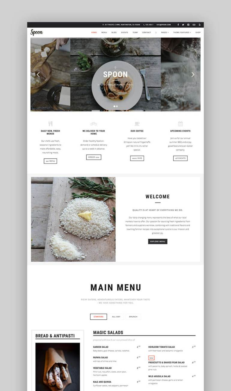 Spoon - Premium Responsive Restaurant WordPress Theme