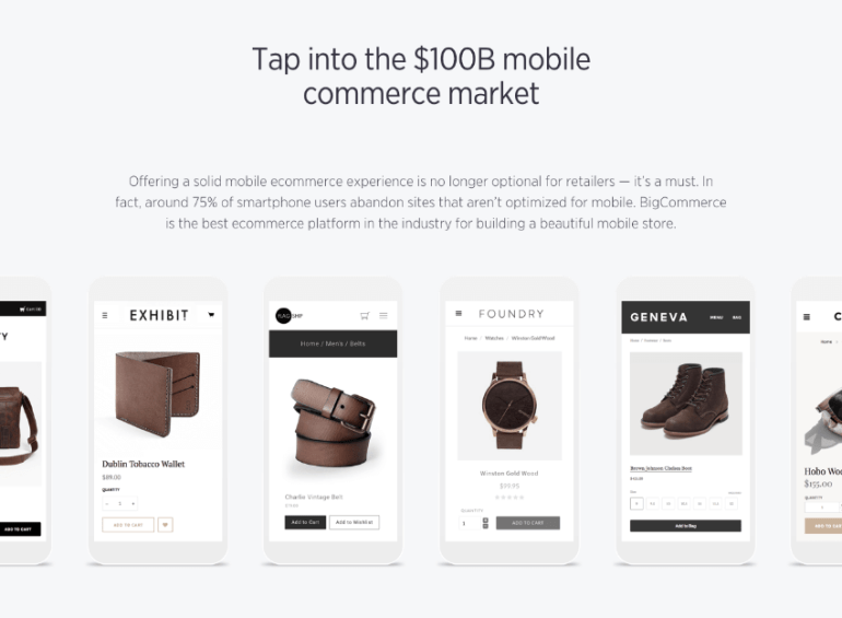 BigCommerce mobile features