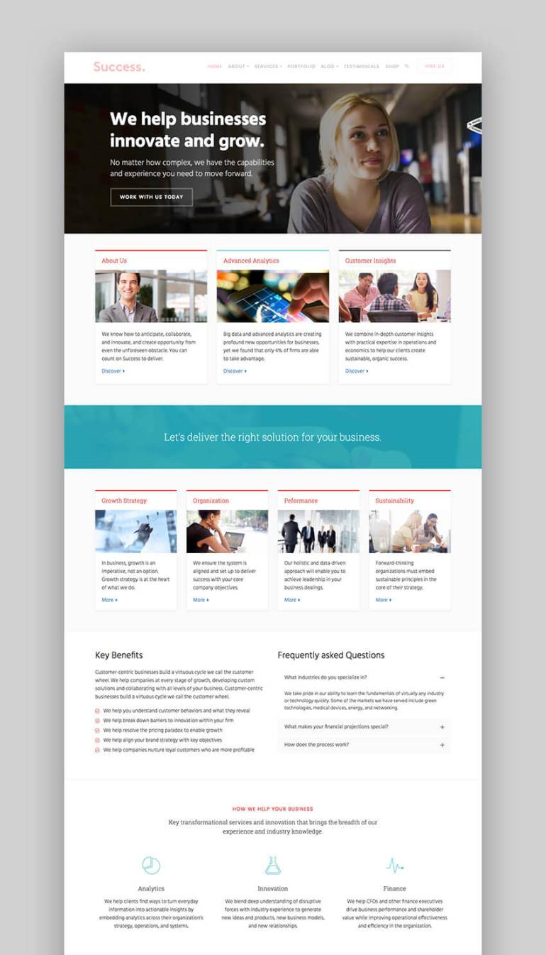 Success consulting WordPress theme