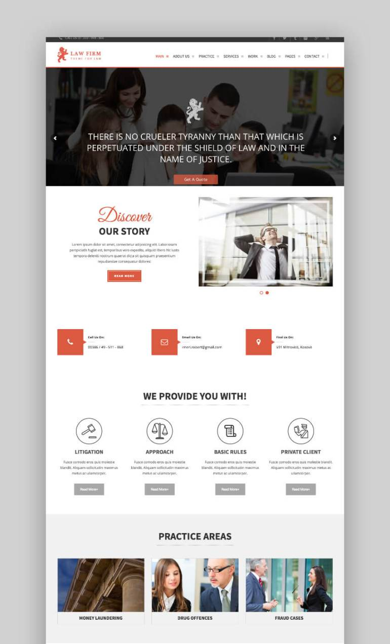 Law Firm robust legal wordpress theme
