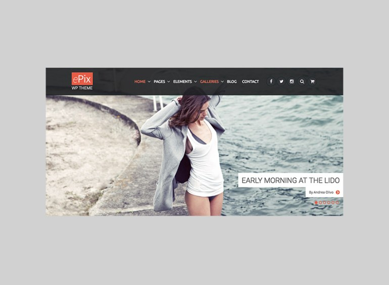 ePix Full-Page website theme for WordPress