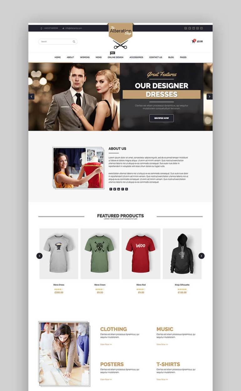Alteration E-Commerce Theme for WordPress fashion websites