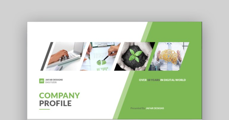 Company Profile PowerPoint presentation template design