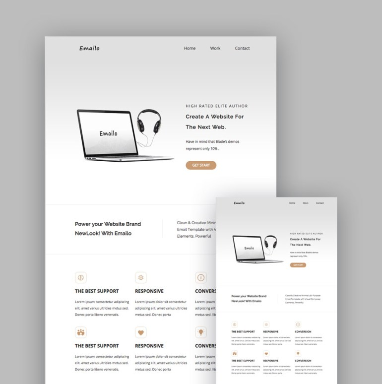 Emailo responsive template