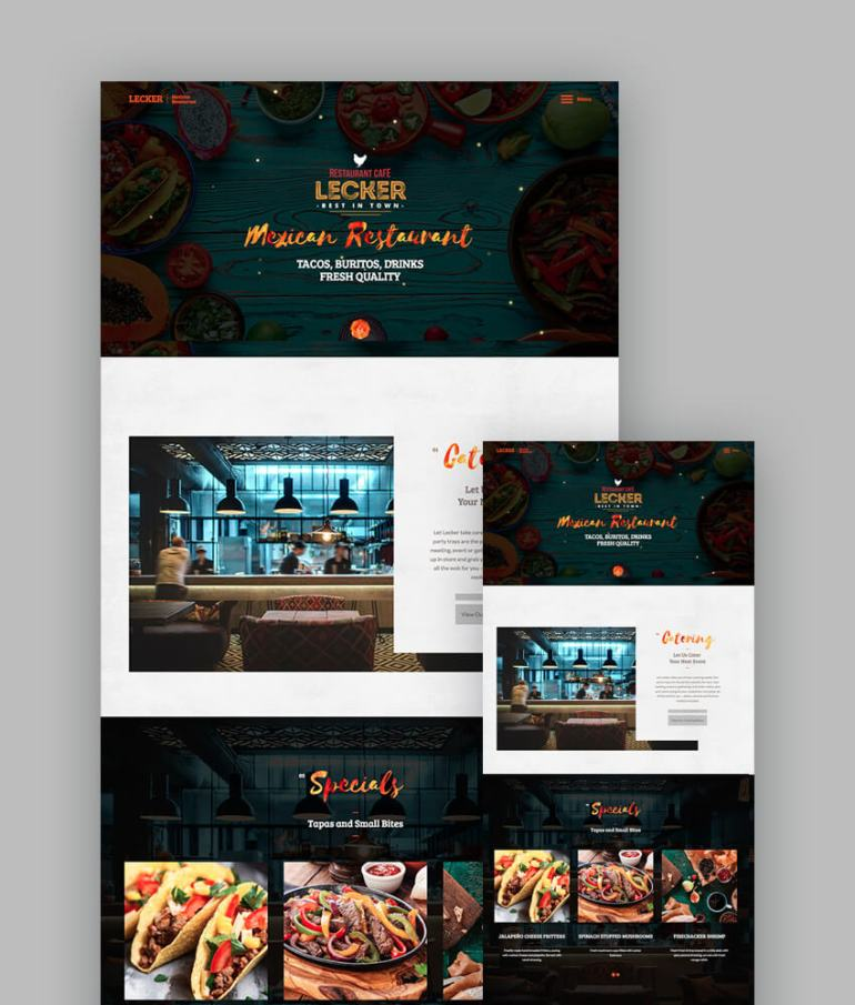 Lecker Cafe Template