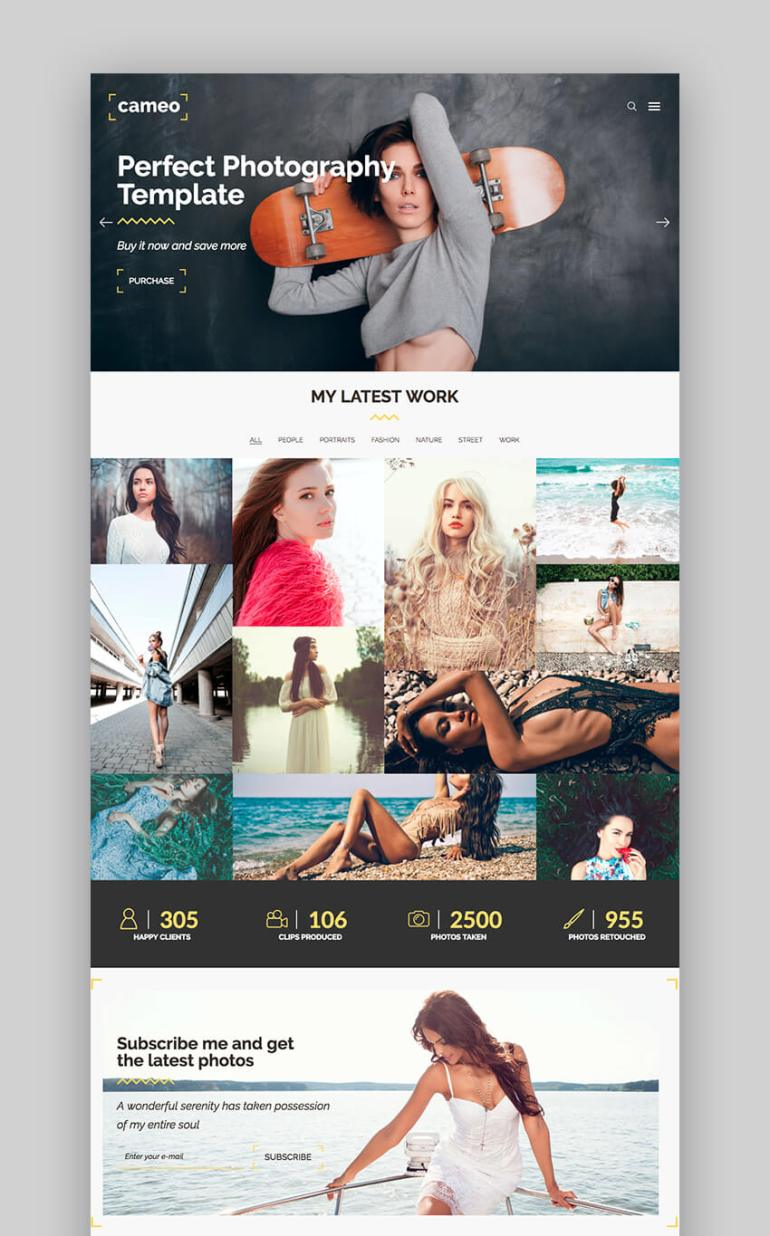 Cameo Photography WordPress Theme