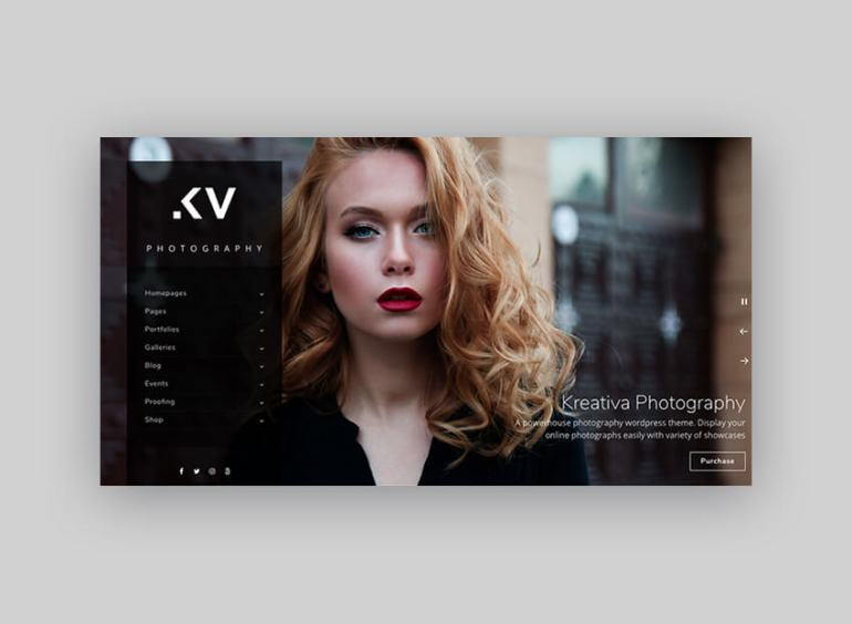 Kreativa Photography Theme for WordPress