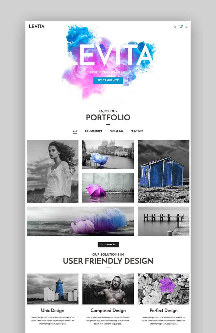 Levita Photography Theme