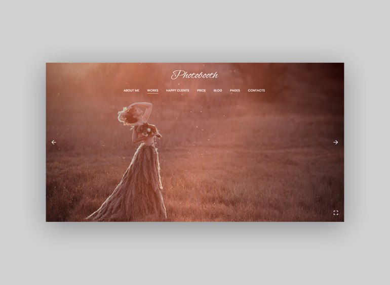 Photobooth WordPress theme