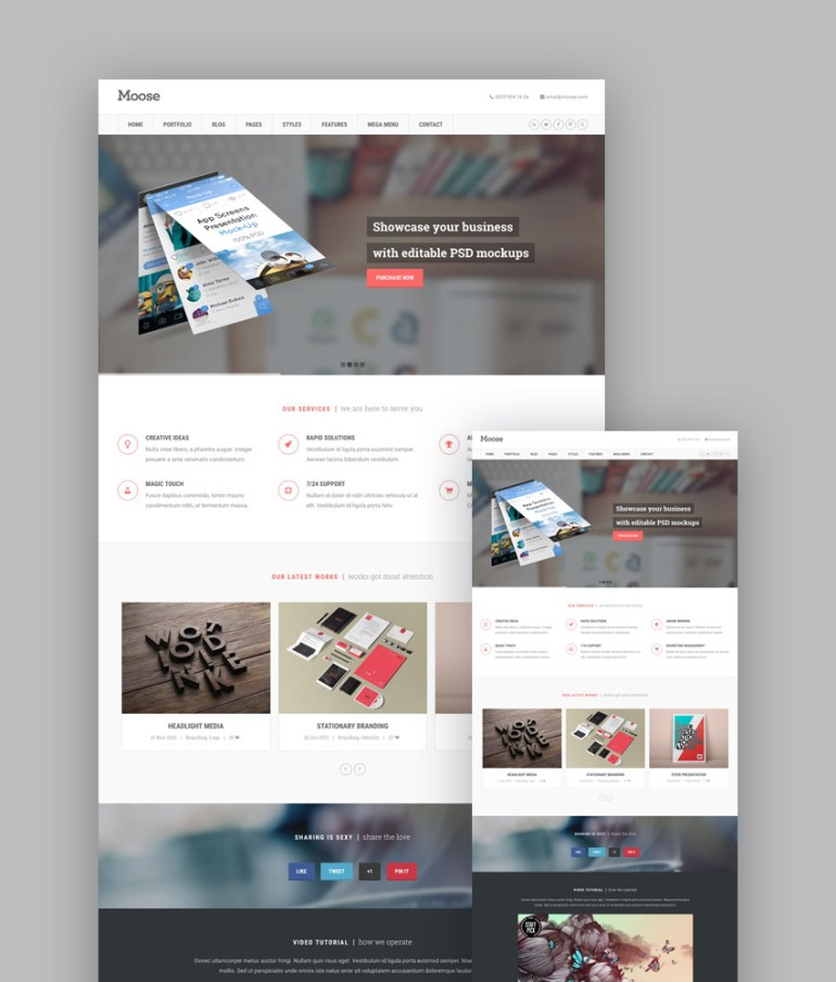 Moose HTML5 template