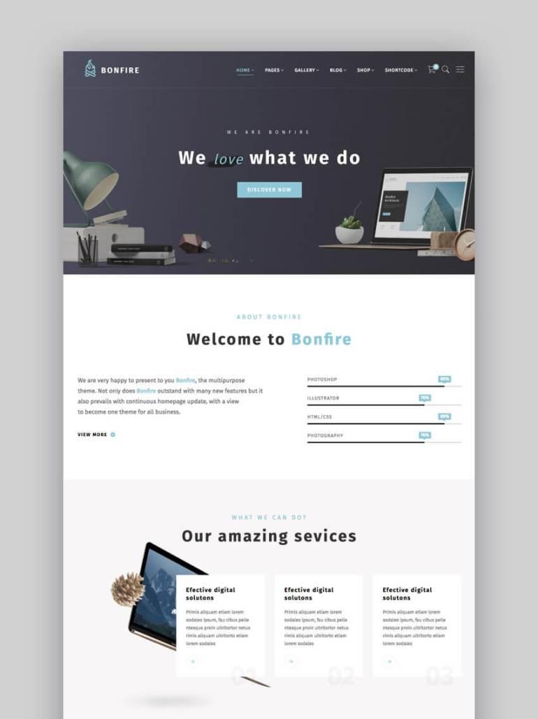 Bonfire WordPress theme