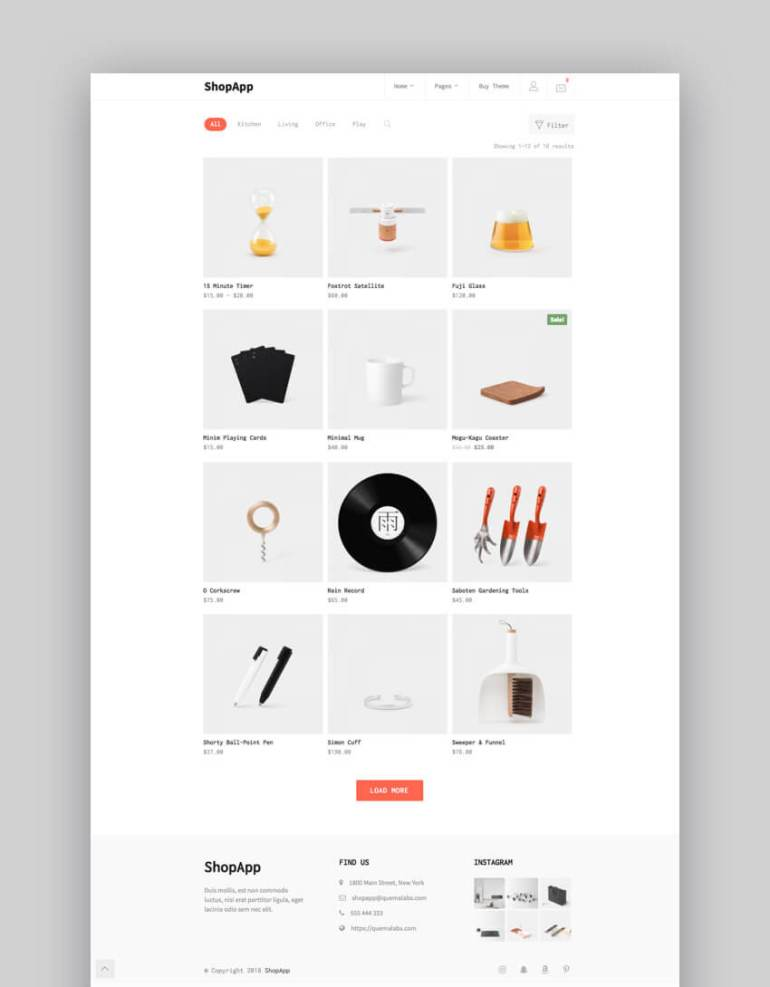 ShopApp e-commerce business theme
