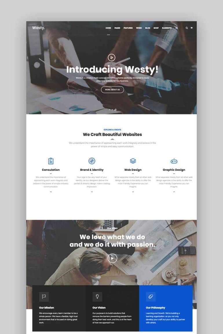 Westy small business WordPress theme