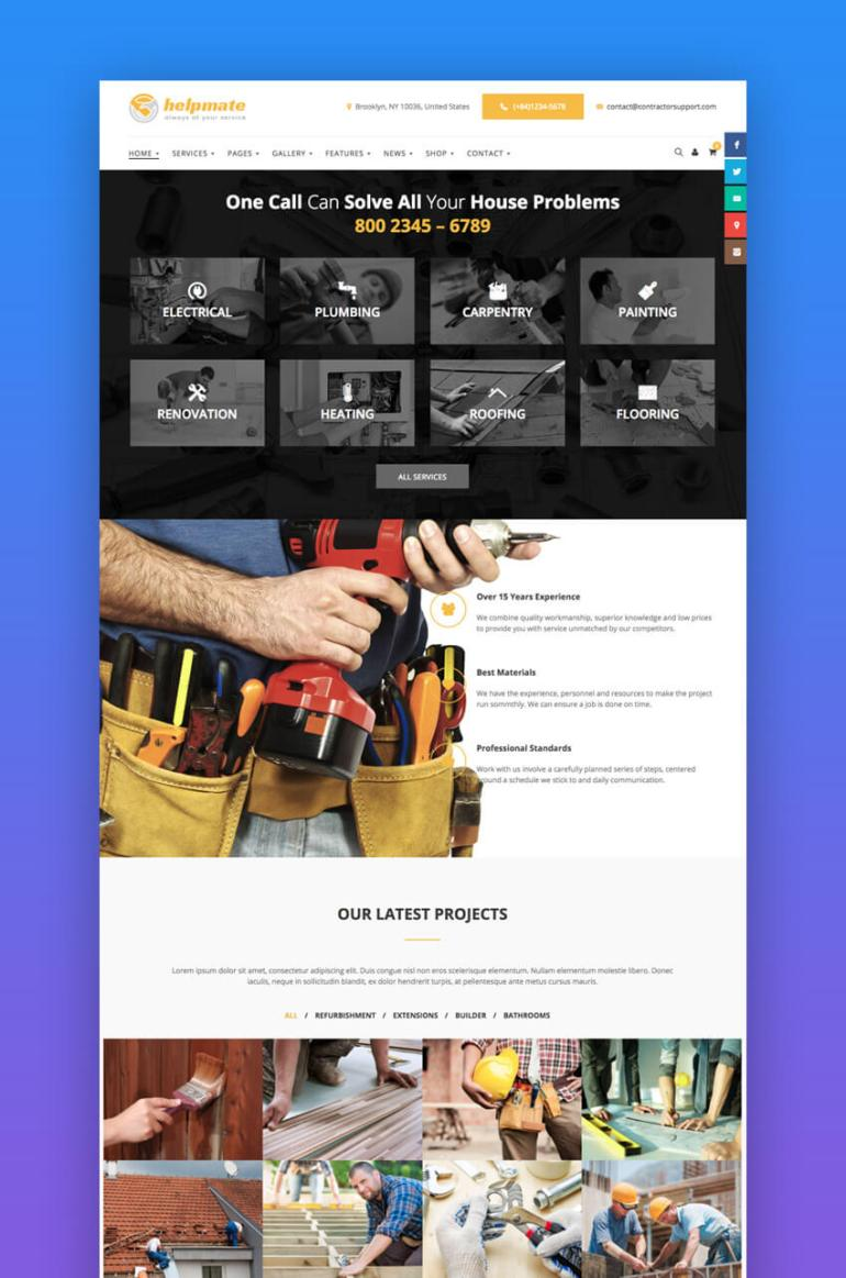 Helpmate multi-concept WordPress theme