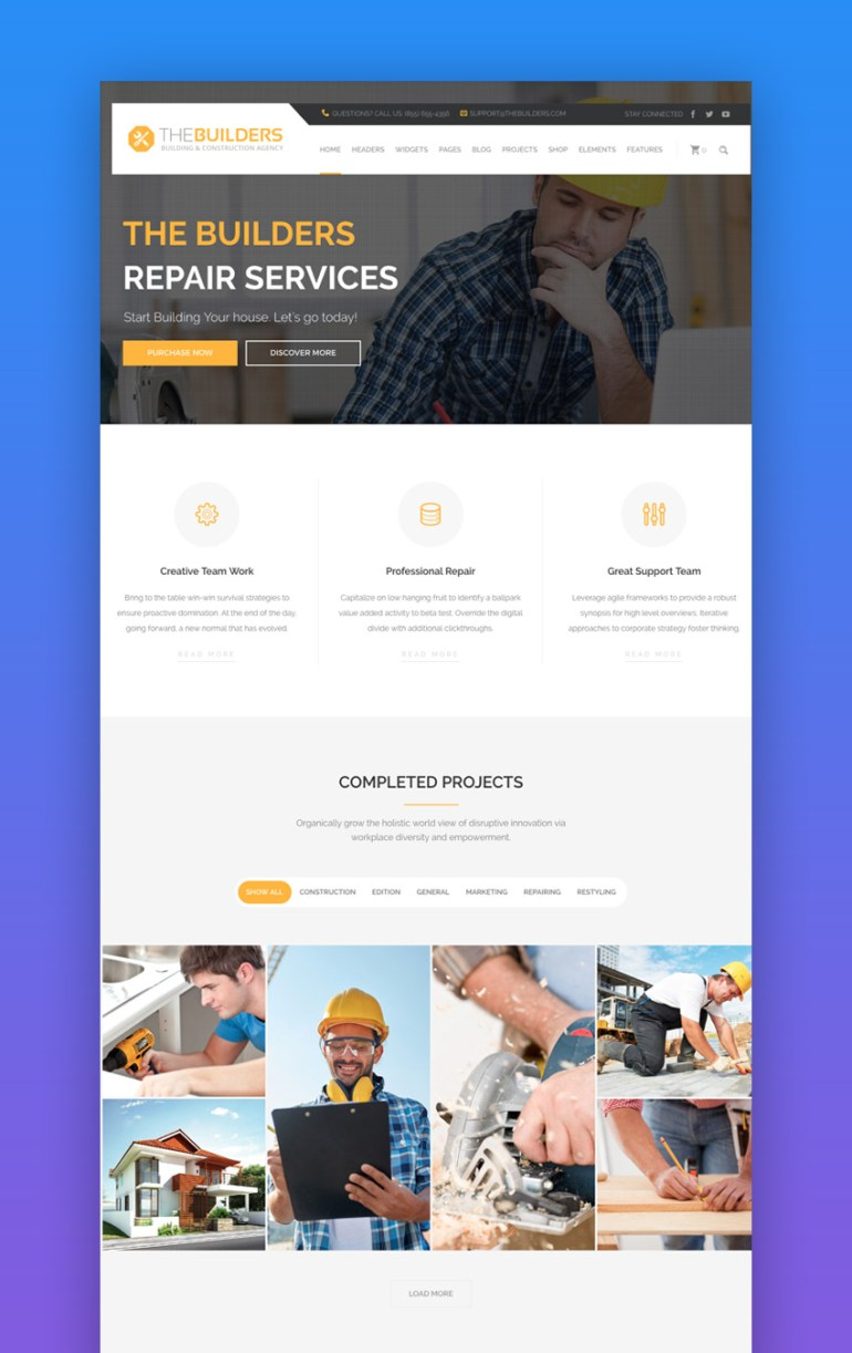 The Builders WordPress Theme