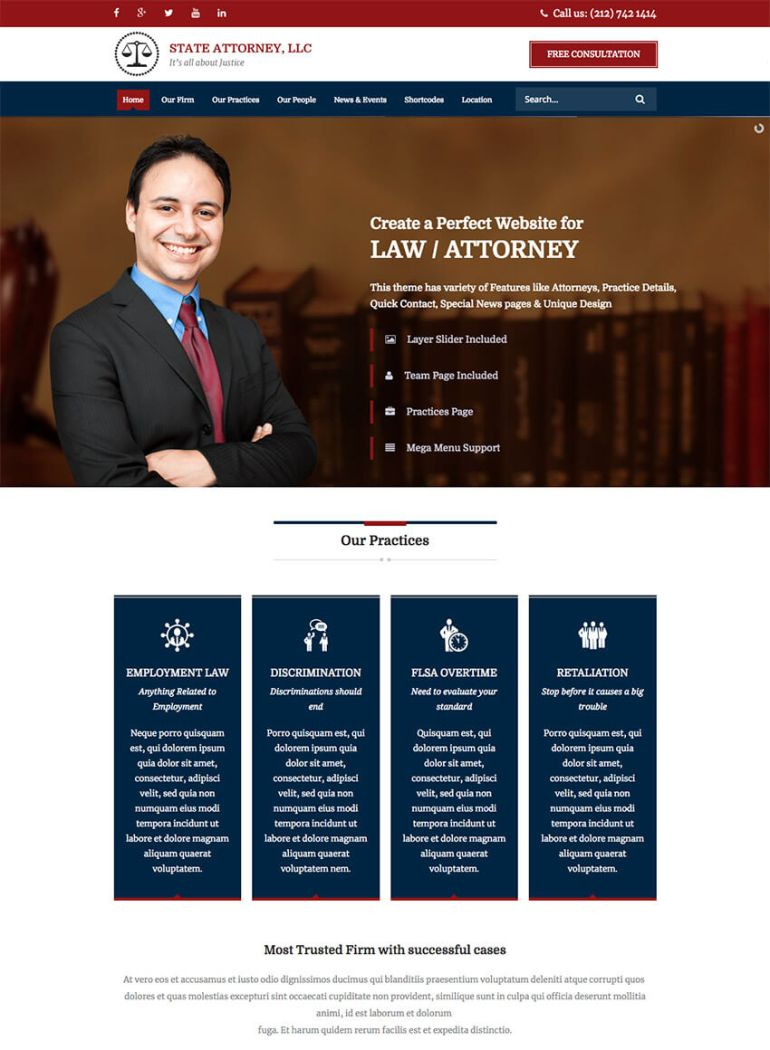 lawyer html5 template