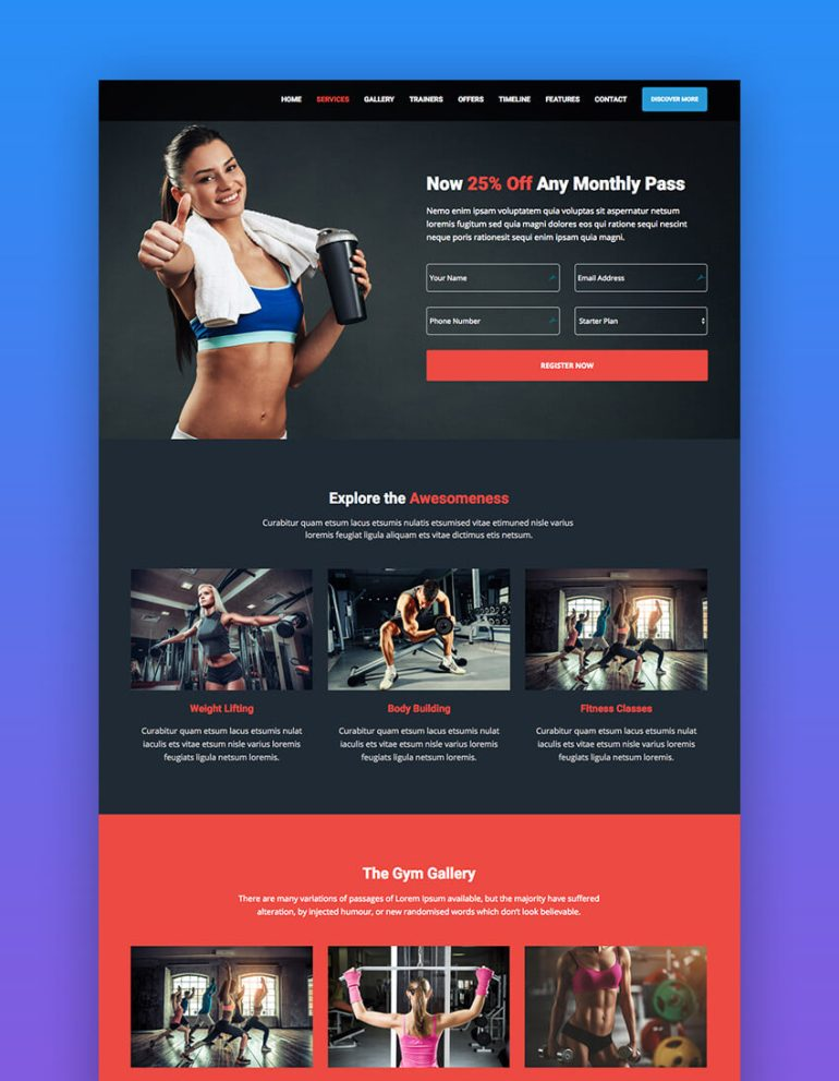BeSmart WordPress theme for fitness websites