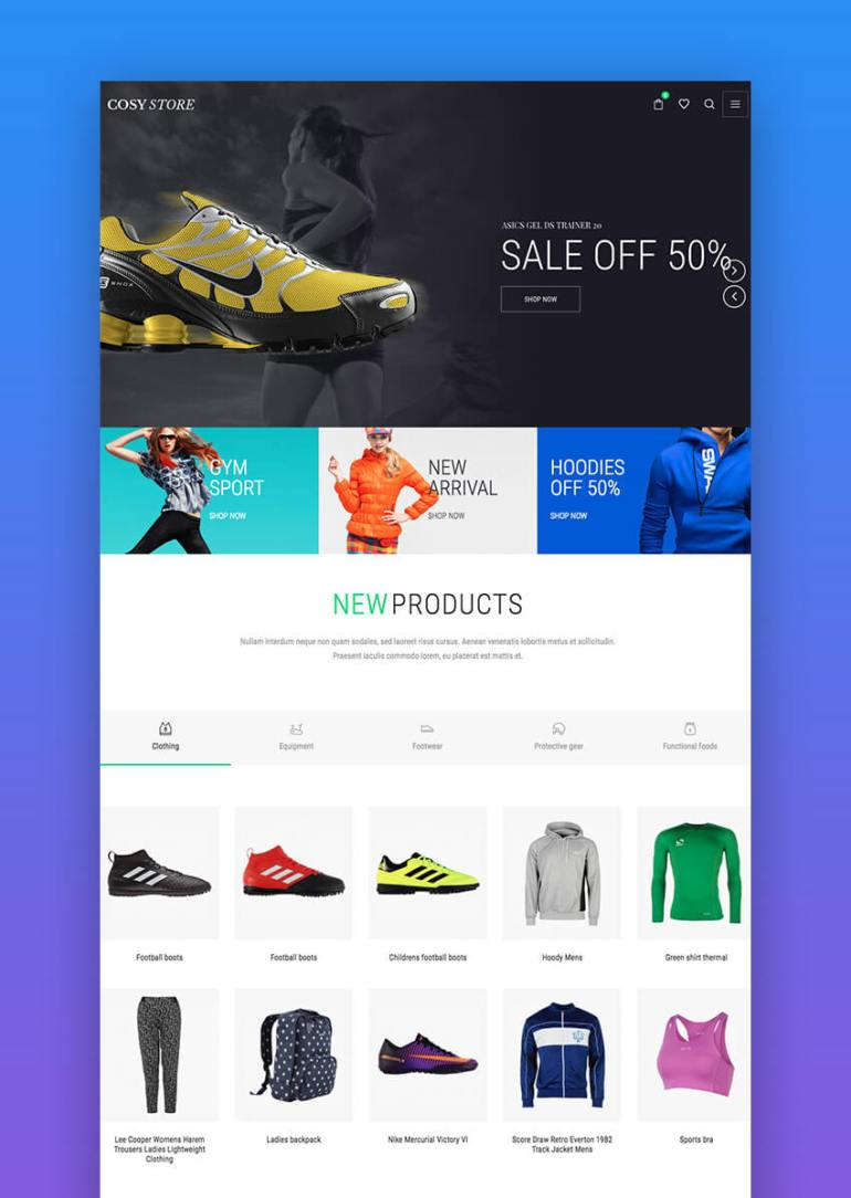 Cosi e-commerce WordPress theme