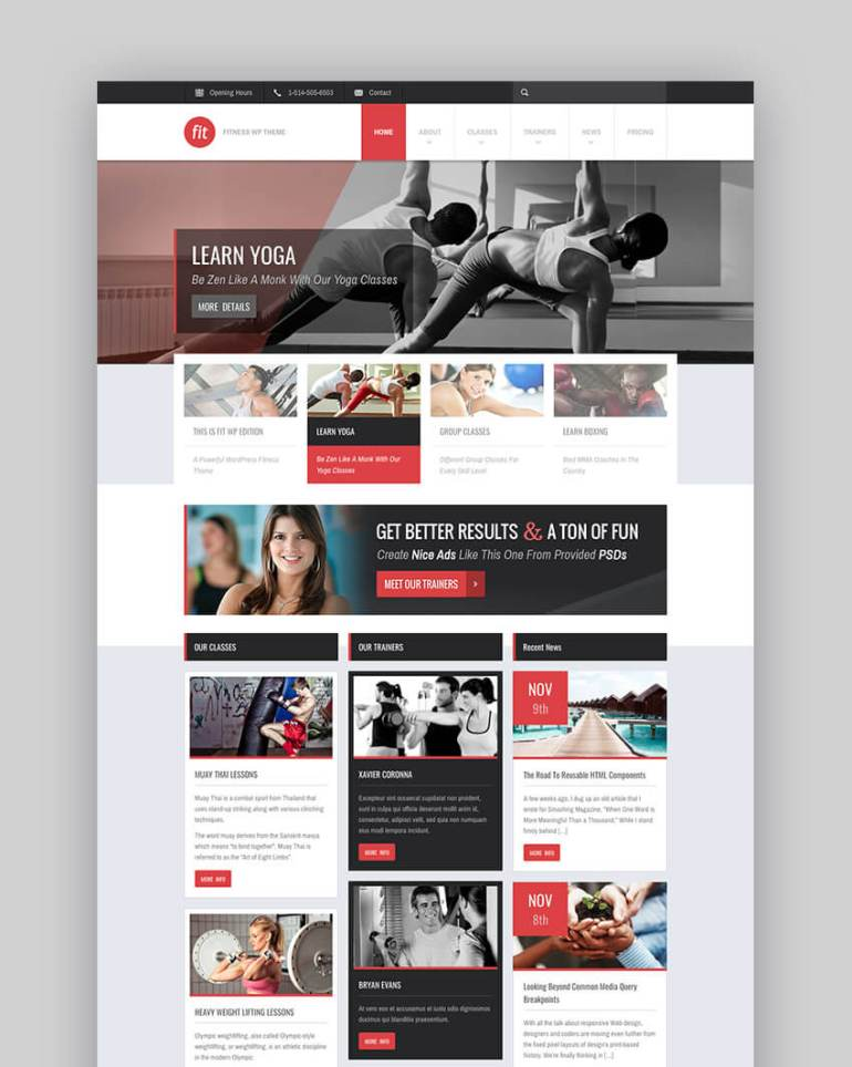 FIT WordPress minimal theme