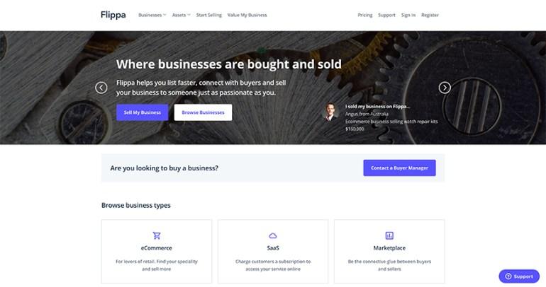 Flippa - flip websites