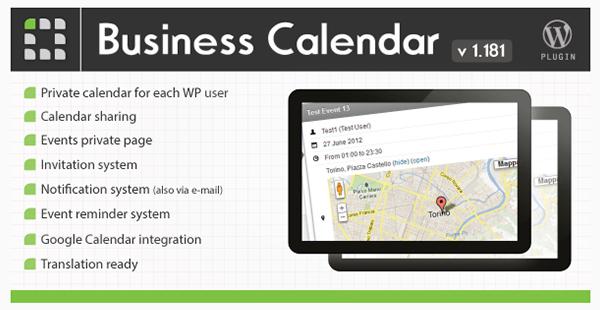 Business Calendar - WordPress Internal Calendar