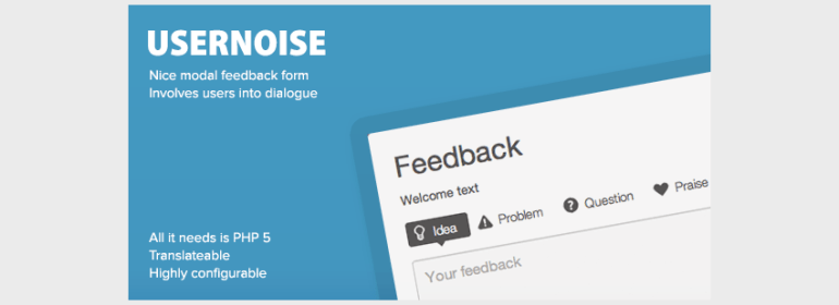 Usernoise Modal Contact  Feedback Form