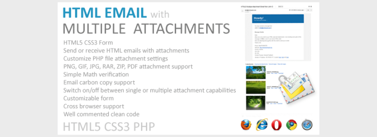 Email with Multiple Attachments HTML5 PHP