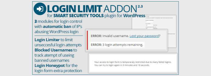 Smart Security Tools Login Limit Addon