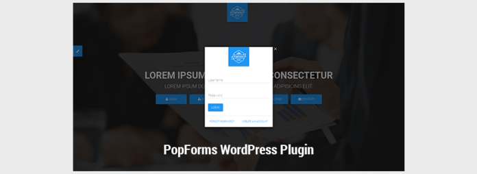 PopForms Material Design WordPress Capital Forms Set