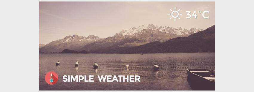 Weather WordPress Shortcode  Widget - Simple Weather Plugin