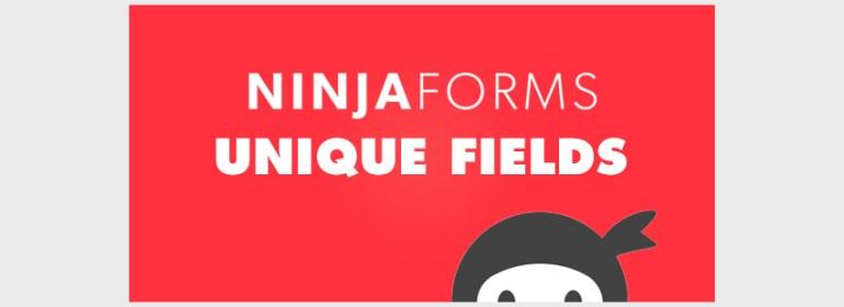Ninja Forms - Unique Fields