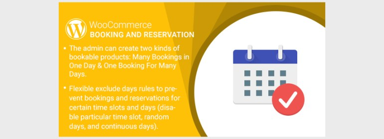 WordPress WooCommerce Booking And Reservation Plugin