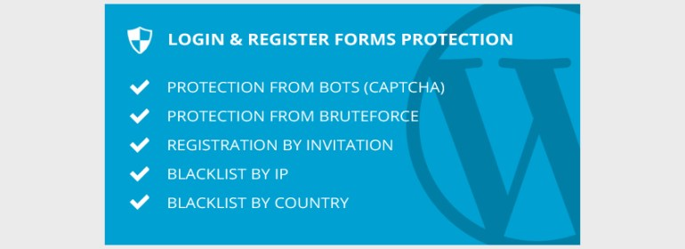 Login  Register Forms Protection - WordPress Plugin