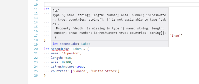 Missing Property Values in TypeScript Interface